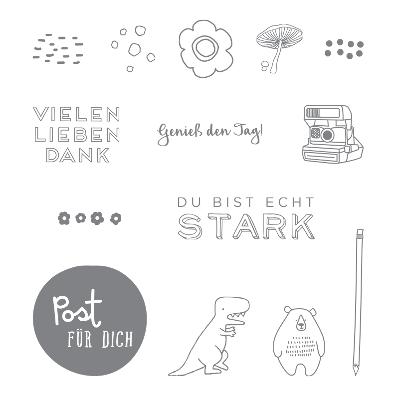 Dies & das Clear-Mount Stamp Set (German)
