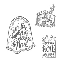 Noël chéri Clear-Mount Stamp Set (French)