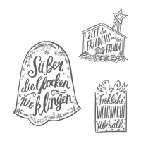 Weihnachtstrio Clear-Mount Stamp Set (German)