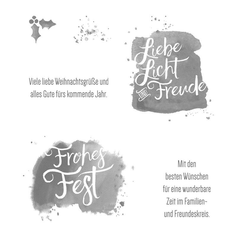 Alle guten Wünsche Clear-Mount Stamp Set (German)