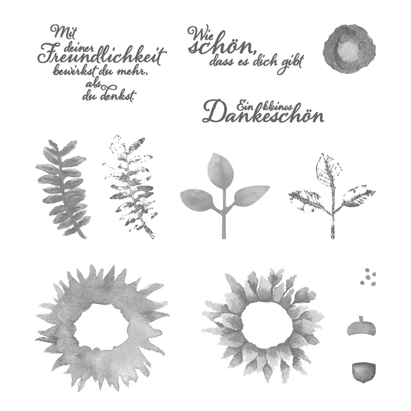 Herbstanfang Photopolymer Stamp Set (German)
