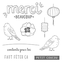 Couleur Bonheur Clear-Mount Stamp Set (French)