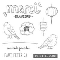 Couleur Bonheur Clear-Mount Stamp Set