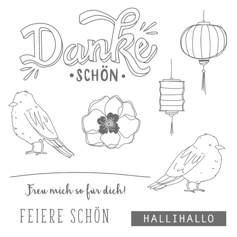 Farbenfroh Clear-Mount Stamp Set (German)