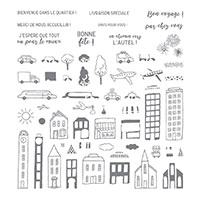 En ville Photopolymer Stamp Set (French)