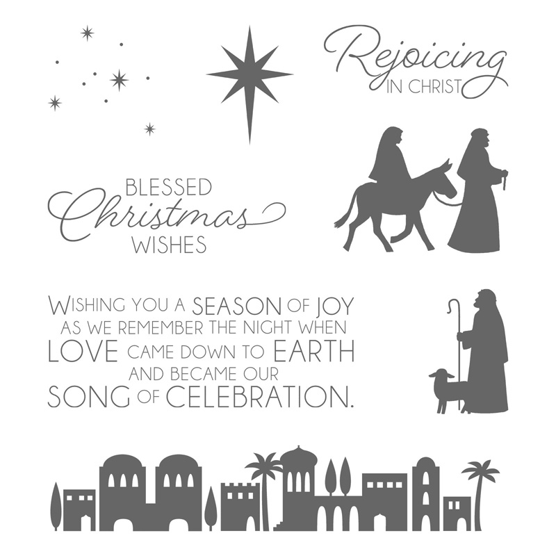 Night In Bethlehem Clear Mount Stamp Set By Stampin Up