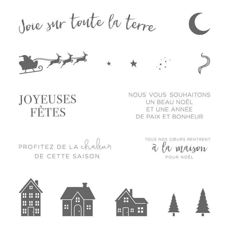 Ensemble à Noël Clear-Mount Stamp Set (French)
