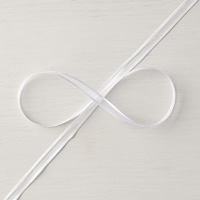 Whisper White 1/4 (6.4 mm) Organza Ribbon