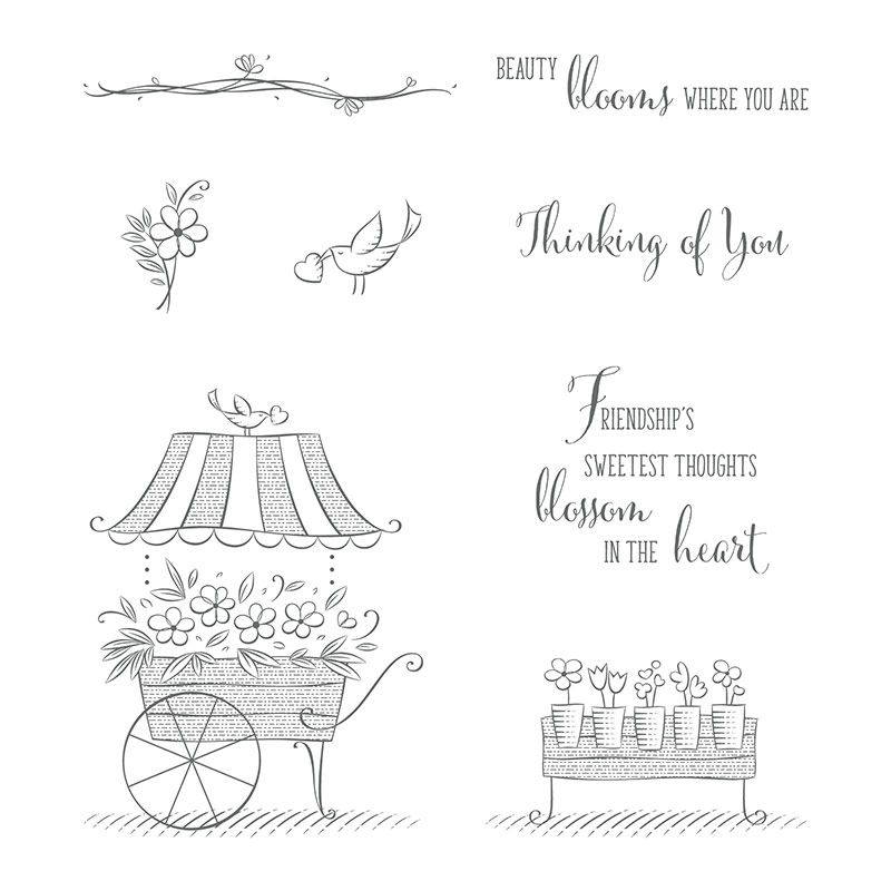 Friendship's Sweetest Thoughts Clear-Mount Stamp Set