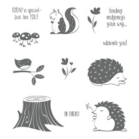 Hedgehugs Clear-Mount Stamp Set