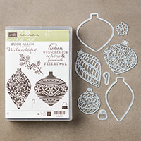 Embellished Ornaments and Delicate Ornament Bundle (French; Clear)