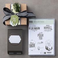 Joyeuses petites étiquettes Clear-Mount Bundle (French)