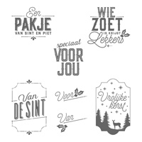 Decemberlabels Clear-Mount Stamp Set (Dutch)