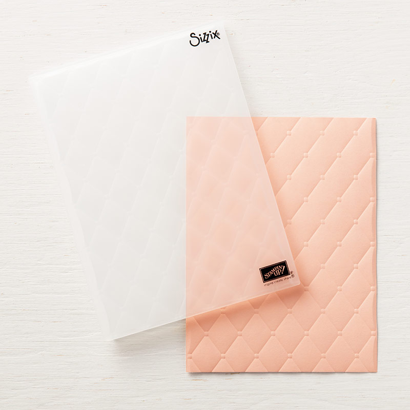 Tufted Dynamic Textured Impressions Embossing Folder By