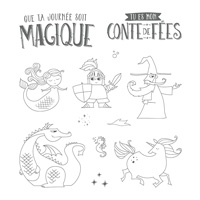 Journée magique Clear-Mount Stamp Set (French)