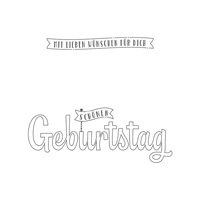 GEBURTSTAGSWÜNSCHE FÜR DICH (für transparente Blöcke) Auch erhältlich in Englisch und Französisch