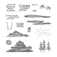 Au bord de l'eau Photopolymer Stamp Set (French)