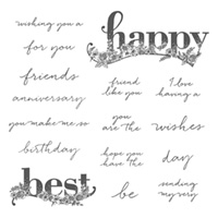 Happy Wishes Wood-Mount Stamp Set