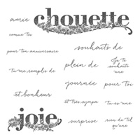 Souhaits sympas Clear-Mount Stamp Set (French)
