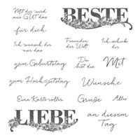 Beste Wünsche Clear-Mount Stamp Set (German)