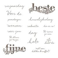 Beste wensen Clear-Mount Stamp Set (Dutch)