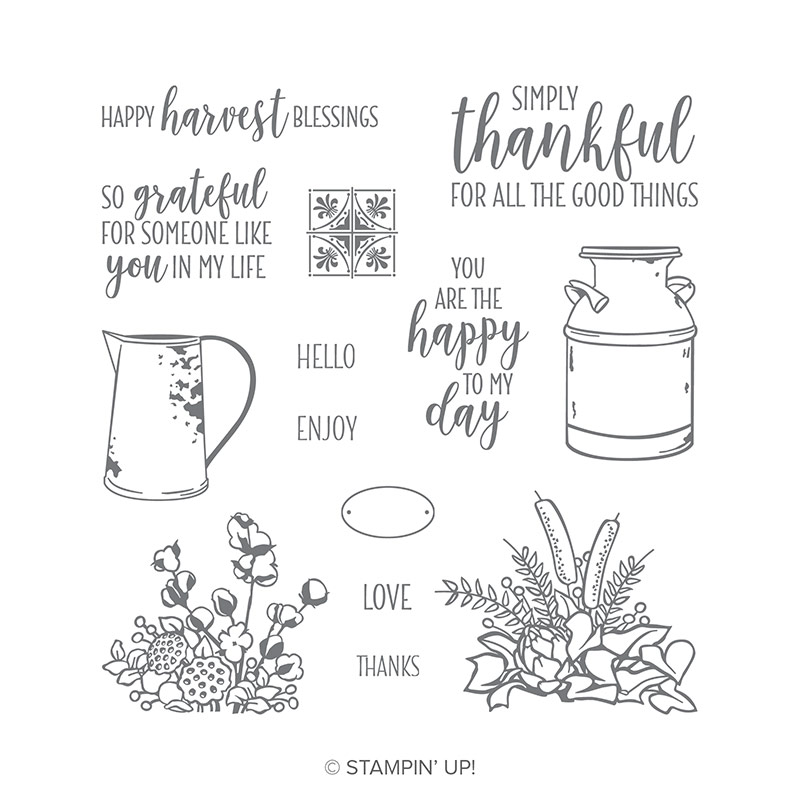 Country Home Photopolymer Stamp Set By Stampin Up