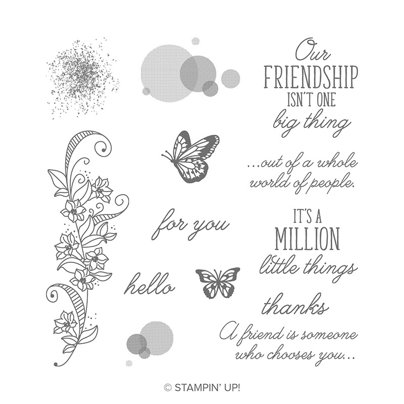 Beauty Abounds Cling Stamp Set By Stampin Up