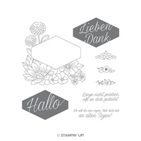 blumiges etikett stampin up