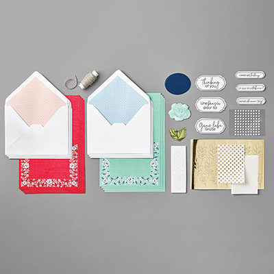 kartenset bandana flair stampin up