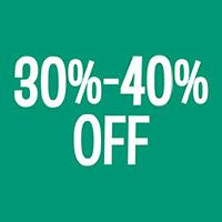 30-40% Off