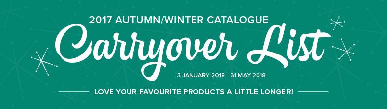Weiter erhältlich! Produkte aus dem Herbst-/Winterkatalog (HWK) 2017